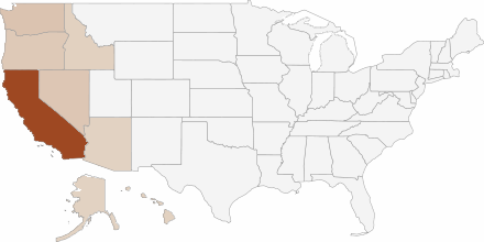 Round Table Pizza in various States in the USA